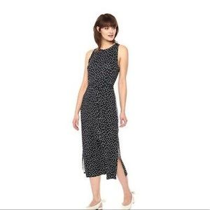 Anthropologie Three dots polka dot dress XS